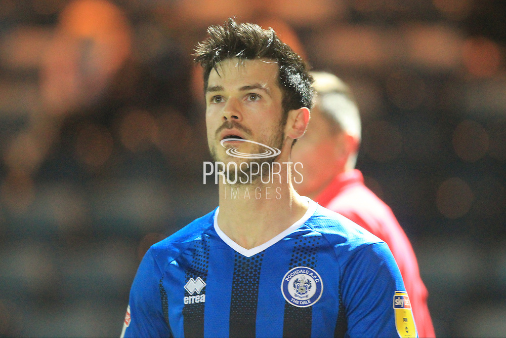 Jimmy Keohane during the EFL Sky Bet League 1 match between Rochdale and Oxford United at Spotland, Rochdale, England on 12 March 2019.