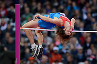 LONDON OLYMPIC GAMES 2012 - OLYMPIC STADIUM , LONDON (ENG) - 07/08/2012 - PHOTO : JULIEN CROSNIER / KMSP / DPPI<br /> ATHLETICS - MEN'S HIGH JUMP - IVAN UKHOV (RUS) / GOLD MEDAL