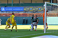 Goal - Kyle McFadzean (5) of Burton Albion scores a goal to make the score 1-1 during the EFL Sky Bet League 1 match between Plymouth Argyle and Burton Albion at Home Park, Plymouth, England on 20 October 2018.