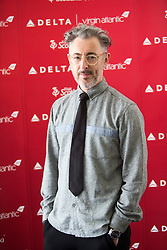 Alan Cumming, as Delta launching year-round nonstop service from Edinburgh to New York-JFK today at Edinburgh Airport.