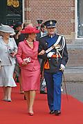 His highness prince Pieter-Christiaan of Oranje Nassau, of Vollenhoven and Ms drs. A.T. van Eijk get married  in the Great or St Jeroens Church in Noordwijk. <br /> <br /> <br /> Zijne Hoogheid Prins Pieter-Christiaan van Oranje-Nassau, van Vollenhoven en mevrouw drs. A.T. van Eijk treden in het (kerkelijk) huwelijk in de Grote St. Jeroenskerk in Noordwijk<br /> <br /> On the photo/Op de foto:<br /> <br /> <br /> <br /> Hare Koninklijke Hoogheid Prinses Margriet der Nederlanden en  Zijne Hoogheid Prins Pieter-Christiaan van Oranje Nassau<br /> <br /> Her royal highness princess Margriet of the The Netherlands and his highness prince Pieter-Christiaan of oranje nassau<br /> <br /> Hare Koninklijke Hoogheid Prinses Margriet der Nederlanden