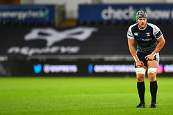 Dan Lydiate of Ospreys<br /> <br /> Photographer Craig Thomas/Replay Images<br /> <br /> Guinness PRO14 Round 4 - Ospreys v Benetton Treviso - Saturday 22nd September 2018 - Liberty Stadium - Swansea<br /> <br /> World Copyright © Replay Images . All rights reserved. info@replayimages.co.uk - http://replayimages.co.uk