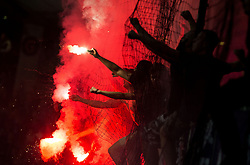 Viole, fans of Maribor during football match between NK Maribor and NK Olimpija Ljubljana in 34th Round of Prva liga Telekom Slovenije 2017/18, on May 19, 2018, in Stadion Ljudski vrt, Maribor, Slovenia. Photo by Vid Ponikvar / Sportida