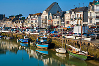France, Loire-Atlantique (44), Le Pouliguen, le port // France, Loire-Atlantique, Le Pouliguen, the port