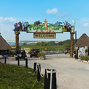 Jeeps Enter Punta Sur Park In Cozumel, Mexico