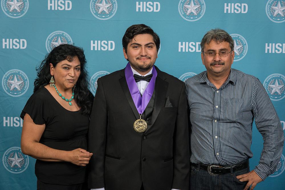 Aitor Jimenez Delgado poses for a photograph during the Scholars banquet, April 12, 2016.