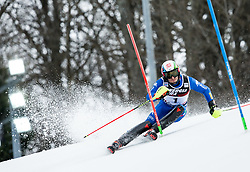"""Stefano Gross (ITA) competes during 1st Run of FIS Alpine Ski World Cup 2017/18 Men's Slalom race named """"Snow Queen Trophy 2018"""", on January 4, 2018 in Course Crveni Spust at Sljeme hill, Zagreb, Croatia. Photo by Vid Ponikvar / Sportida"""