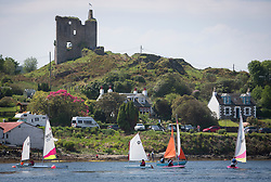 Sailing - SCOTLAND  - 26th May 2018<br /> <br /> DAY 2 Racing the Scottish Series 2018, organised by the  Clyde Cruising Club, with racing on Loch Fyne from 25th-28th May 2018<br /> <br /> Tarbert Harbour, Castle<br /> <br /> Credit : Marc Turner<br /> <br /> Event is supported by Helly Hansen, Luddon, Silvers Marine, Tunnocks, Hempel and Argyll & Bute Council along with Bowmore, The Botanist and The Botanist