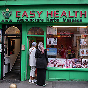 Easy Health - Massage Shop in London Chinatown Sweet Tooth Cafe and Restaurant at Newport Court and Garret Street on 15 June 2019, UK.