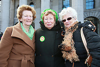 Sisters  Crea O Ceallaigh with Ita O Cealliagh and Breda O Cealliagh Condron [ Seamus O Cealliagh's Neices] pictured after the 1916 Easter Rising Commemoration Parade on Dublin's O Connell St. Picture Credit: Frank Mc Grath<br /> 27/3/16