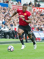 Football - 2017 / 2018 Premier League - Swansea City vs. Manchester United<br /> <br />  Antonio Valencia of Manchester United attacks, at Liberty Stadium.<br /> <br /> COLORSPORT/WINSTON BYNORTH