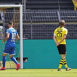 Tor KRAMARIC, Hoffenheim zum 0:1 gegen BÜRKI<br /> <br /> firo, Sport: Fussball: 1. Bundesliga: Saison 2019/2020, 27.06.2020,34. Spieltag,<br /> BVB, Borussia Dortmund - TSG Hoffenheim<br /> <br /> Foto: Ralf Ibing / firosportphoto / POOL/PIX-Sportfotos<br /> <br /> Nur für journalistische Zwecke! Only for editorial use! <br /> <br /> <br /> Foto © PIX-Sportfotos *** Foto ist honorarpflichtig! *** Auf Anfrage in hoeherer Qualitaet/Aufloesung. Belegexemplar erbeten. Veroeffentlichung ausschliesslich fuer journalistisch-publizistische Zwecke. For editorial use only. DFL regulations prohibit any use of photographs as image sequences and/or quasi-video.