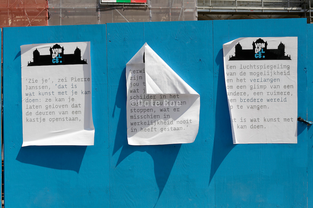 peeling posters with Dutch text Amsterdam