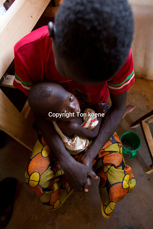 patients in MSF spain hospital ward in batangafo, Central African <br /> Republic