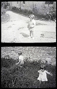 during summer toddlers in the countryside vintage 1900s