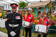 Lance Sergeant Johnson Gideon Beharry VC. The Chelsea Flower Show 2014. The Royal Hospital, Chelsea, London, UK.  19 May 2014.