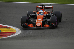 August 27, 2017 - Francorchamps, Belgium - FERNANDO ALONSO of Spain and McLaren Honda drives during the 2017 Formula 1 Belgian Grand Prix in Francorchamps, Belgium. (Credit Image: © James Gasperotti via ZUMA Wire)