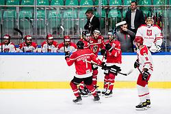Huber Mario with teammates of Austria  during match at Beat Covid 19 IIH Tournament 2021 between national teams of Poland and Austria in Hala Tivoli on 17th of May, 2021, Ljubljana, Slovenia . Photo By Grega Valancic / Sportida