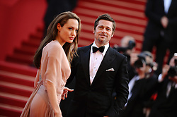 """Angelina Jolie and Brad Pitt were married Saturday in the French hamlet of Correns, a spokesman for the couple says. Jolie and Pitt wed in a small chapel in a private ceremony attended by family and friends at Provence's Chateau Miraval. In advance of the nondenominational civil ceremony, Pitt and Jolie obtained a marriage license from a local California judge. The judge also conducted the ceremony in France. File photo : """"Brad Pitt and Angelina Jolie attend the screening of """"""""Inglourious Basterds"""""""" at the 62nd Cannes Film Festival. Cannes, France, May 20, 2009. Photo by Lionel Hahn/ABACAPRESS.COM (Pictured: Brad Pitt, Angelina Jolie)"""""""