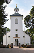 The Stenbrohult parish church where Linnaeus father was priest. Smaland region. Sweden, Europe.