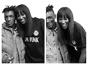 Naomi Cambell with Tricky