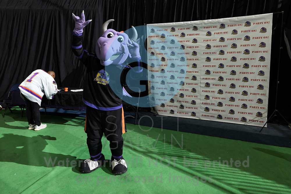 Youngstown Phantoms defeat the Muskegon Lumberjacks 4-3 in overtime at the Covelli Centre on December 5, 2020.<br /> <br /> Sparky, mascot