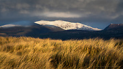 The most wonderful, dramatic evening light catching unexpected snowfall on Wales' highest peak of Yr Wyddfa. A few days before I was walking the beaches in shorts & a T-Shirt!