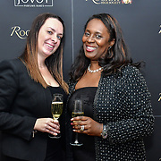 Medina Williamson is a Brand Evaluation,Director X (R) and guest, Matthew Cook, Louise Van Der Velde  and guests attend Rochay High Society Soiree with Jovoy at Westbury Mayfair grafton suite on 21 November 2019, London, UK.