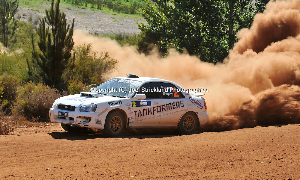 Eli EVANS & Chris MURPHY .Subaru  Impreza WRX.Motorsport-Rally/2009 Forest Rally .Heat 2.5th of April 2009.Nannup, Western Australia.(C) Joel Strickland Photographics
