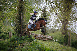 Dhaenens Emma (BEL) - Jirondine V vh Juxschot<br /> Nationaal Kampioenschap Eventing Pony's <br /> LRV Gavere 2014<br /> © Dirk Caremans
