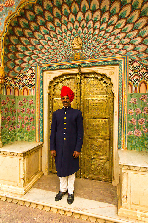 Palace Guard, The City Palace, Jaipur, Rajasthan, India