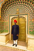 Palace Guard, The City Palace, Jaipur, Rajasthan, India