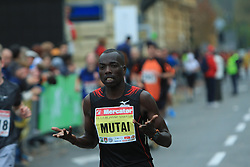 Richard Mutai v cilju na 13. Ljubljanskem maratonu po ulicah Ljubljane, 26. oktobra 2008, Ljubljana, Slovenija. (Photo by Vid Ponikvar / Sportal Images)./ Sportida)