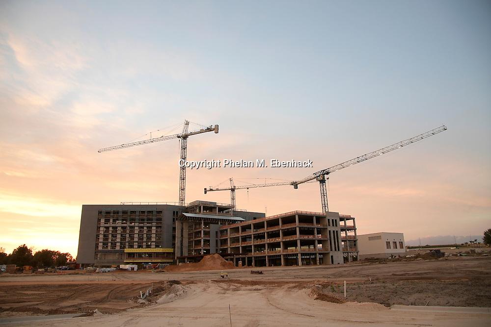 Construction continues on a new Florida Hospital facility, Tuesday, Jan. 17, 2017, in Apopka, Fla. (Photo by Phelan M. Ebenhack)