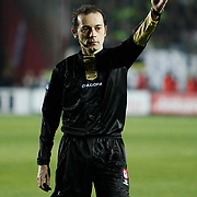 Referee's Cuneyt CAKIR during their Turkish superleague soccer derby match Galatasaray between Fenerbahce at the AliSamiYen Stadium at Mecidiyekoy in Istanbul Turkey on Sunday, 28 March 2010. Photo by Aykut AKICI/TURKPIX