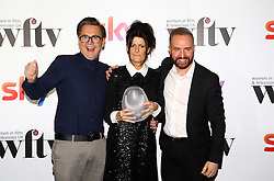 Stephen Webb (left) and Chris Steed presented Tania Alexander with the Envy producer award at the Women in Film & TV Awards at the Hilton hotel in central London.