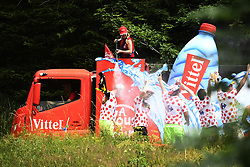 July 8, 2017 - Station Des Rousses, FRANCE - Illustration picture shows Vittel during the publicity caravan during the eighth stage of the 104th edition of the Tour de France cycling race, 187,5km from Dole to Station des Rousses, France, Saturday 08 July 2017. This year's Tour de France takes place from July first to July 23rd. BELGA PHOTO YORICK JANSENS (Credit Image: © Yorick Jansens/Belga via ZUMA Press)