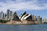 Sydney Opera House with city skyline behind.<br /> <br /> For larger JPEGs and TIFF versions contact EFFECTIVE WORKING IMAGE via our contact page at : www.photography4business.com