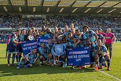 Free to use courtesy of Sky Bet, Wycombe Wanderers celebrate promotion to League One - Mandatory by-line: Jason Brown/JMP - 05/05/2018 - FOOTBALL - Adam's Park - High Wycombe, England - Wycombe Wanderers v Stevenage - Sky Bet League Two