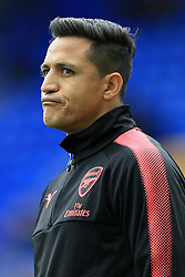 22nd October 2017 - Premier League - Everton v Arsenal - Alexis Sanchez of Arsenal pulls a funny face - Photo: Simon Stacpoole / Offside.