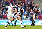 2005 European Challenge Cup Final Sale Sharks v Pau, ENGLAND, 21.05.2005, Jason Robinson, kick clear after catching the high ball.<br /> Photo  Peter Spurrier. <br /> email images@intersport-images