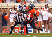 Sept. 3, 2011 - Charlottesville, Virginia - USA; Virginia Cavaliers running back Kevin Parks (25) scores a touchdown during an NCAA football game against William & Mary at Scott Stadium. Virginia won 40-3. (Credit Image: © Andrew Shurtleff
