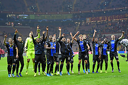 November 26, 2019, Istanbul, France: The players of Club Brugge celebrates the victory towards the supporters after the UEFA Champions League Group stage - Group A match (Credit Image: © Panoramic via ZUMA Press)