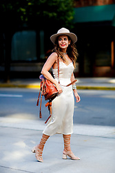 Street style, Sara Escudero (blogger: Collage Vintage) arriving at 3.1 Phillip Lim Spring Summer 2017 show held at Skylight Clarkson North, 572 Washington Street, in New York, USA, on September 12, 2016. Photo by Marie-Paola Bertrand-Hillion/ABACAPRESS.COM / RealTime Images