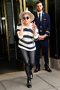May 10, 2016 - New York, NY, USA - <br /> <br /> .Lady Gaga leaving her apartment on May 10, 2016 in New York City. <br /> ©Exclusivepix Media