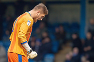Gillingham FC goalkeeper Tomas Holy (1) after the final whistle during the EFL Sky Bet League 1 match between Gillingham and Scunthorpe United at the MEMS Priestfield Stadium, Gillingham, England on 16 February 2019.