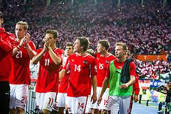 10.09.2013, Ernst Happel Stadion, Wien, AUT, FIFA WM Qualifikation, Oesterreich vs Irland, Rueckspiel, im Bild Marc Janko, (AUT, #21), Martin Harnik, (AUT, #11), Julian Baumgartlinger, (AUT, #14), Sebastian Proedl, (AUT, #15), Andreas Weimann, (AUT, #9)// during the FIFA World Cup Qualifier second leg Match between Austria and Ireland at the Ernst Happel Stadium in Vienna, Austria on 2013/09/10. EXPA Pictures © 2013, PhotoCredit: EXPA/ Sebastian Pucher