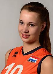 07-04-2014 NED: SELECTIE JONG ORANJE: ARNHEM<br /> Volleybalteam Jong Oranje / Nicole Oude Luttikhuis<br /> ©2014-FotoHoogendoorn.nl