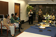 """February 2, 2009 - Santa Barbara, CA: """"Roots of Community: African American activism in Santa Barbara"""" exhibit and  reception recognizing Black History Month.  Donald C. Davidson Library, California Ethnic and Multicultural Archives, Mary Cheadle Conference Room, University of California, Santa Barba. (Photo by Rod Rolle)"""