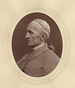 'Henry Edward Manning (1808–1892) c1878, English churchman, ordained into the Anglican church. Became a Roman Catholic in 1851. Created Cardinal in 1875.'